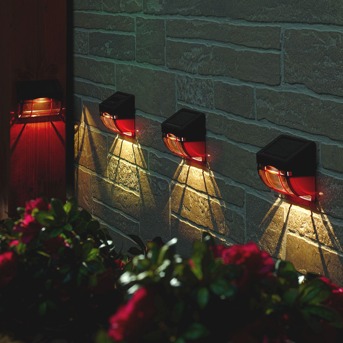 Mission Solar Wall Light 4 Pack Smart Living Home Garden
