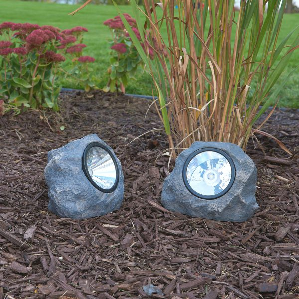 3345WRM1 - Solar Rock Light - White LED