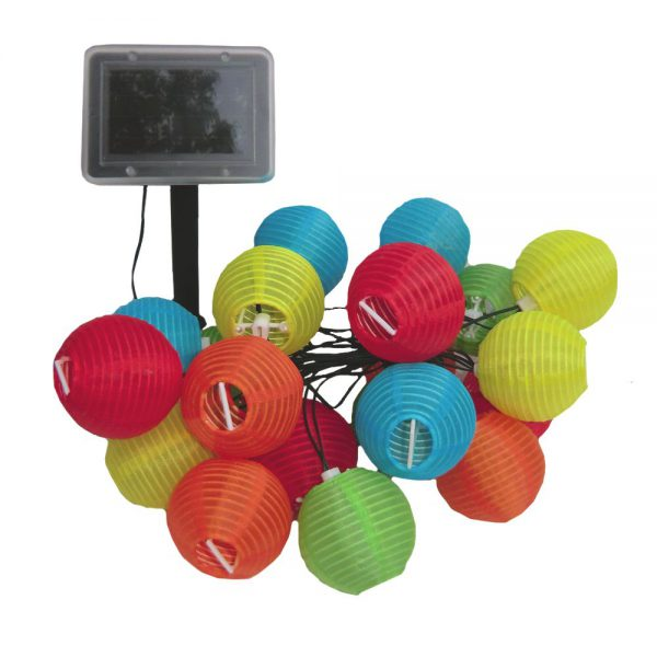 371MR20 - Solar String Lights - 20 LED Chinese Lanterns