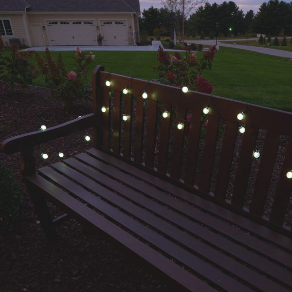 3732WR30 - Solar String Lights 30 LED White Crystal Balls - Professional Series
