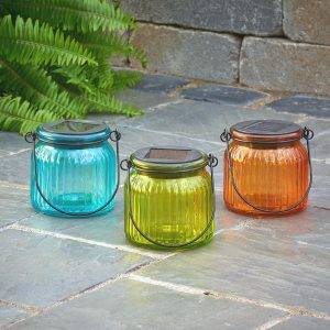 3902MRM3 - Hanging Glass Solar Jar 3-Pack