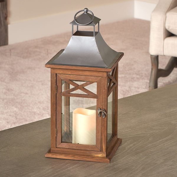 "84087-LC- Portland 17"" LED Candle Lantern"