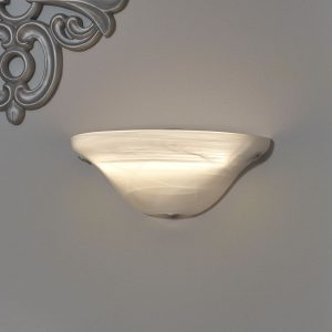 IEL-4300-Frosted Glass Half Moon Sconce