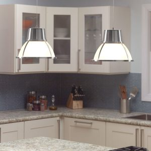 IEL-5895 - Bente Glass Pendant Light - Nickel