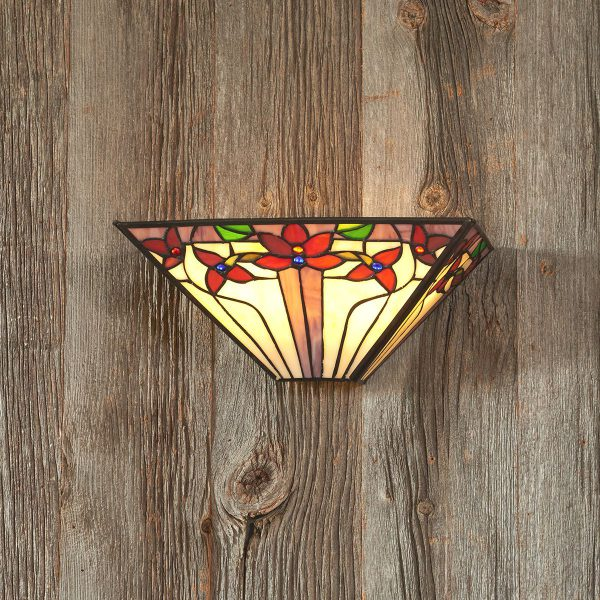 IEL-9002 - Tiffany V Stained Glass Sconce